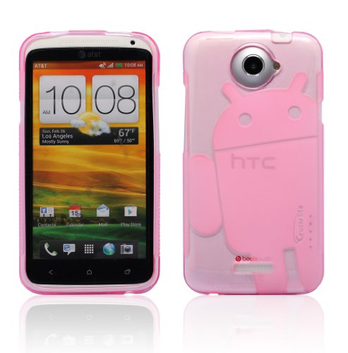 51t6By7GIgL ~ Hot Pink Androidified A2 Cruzerlite TPU Case   For AT&T HTC One X Get Rabate