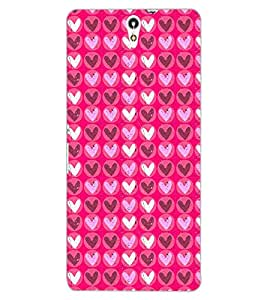 ColourCraft Hearts Design Back Case Cover for SONY XPERIA C5 ULTRA DUAL
