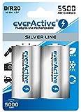 6 x everActive Silverline MONO min. 5000 mAh Akku D
