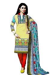 Pehnawa Fashion Women Wollen_Pashmina Unstitched Dress Material (Yellow)