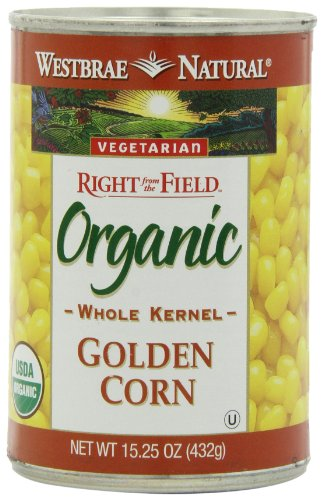 Westbrae Natural Organic Whole Kernel Golden Corn, 15.25 Ounce Cans (Pack of 12)