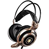 SADES Arcmage 3.5mm Stereo Gaming Headset LED Lighting Over-Ear Headphone With Mic For PC Computer Noise Cancelling...