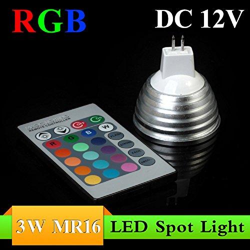 Lvjing® Mr16 Rgb 16 Colors 3W Led Spotlight Led Bulb Lamp With Remote Control (Mr16)