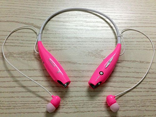 Soundbeats Universal Hv-800 Wireless Music A2Dp Stereo Bluetooth Headset Universal Vibration Neckband Style Headset Earphone Headphone For Cellphones Such As Iphone, Nokia, Htc, Samsung, Lg, Moto, Pc, Ipad, Psp And So On & Enabled Bluetooth (Pink, Hbs-800