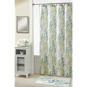 Croscill Spring Meadow Shower Curtain, 70 by 72-Inch, Teal