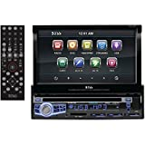 BOSS Audio BV9976B In-Dash Single-Din 7 Motorized Touchscreen DVD/CD/USB/SD/MP4/MP3 Player Receiver Bluetooth Streaming Bluetooth Hands-free with Remote