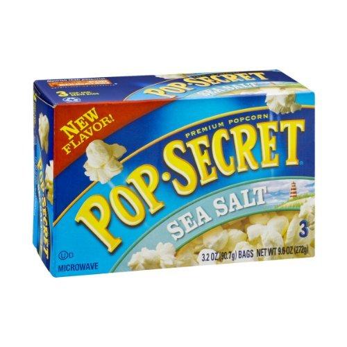 Pop Secret Popcorn, Sea Salt, 9.6 Ounce (Pack Of 2)
