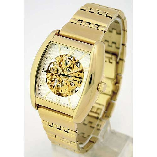 Auguste Galan MECCANIX BTTB Mens Gold-tone Mechanical Skeleton Watch. Model AG-0764