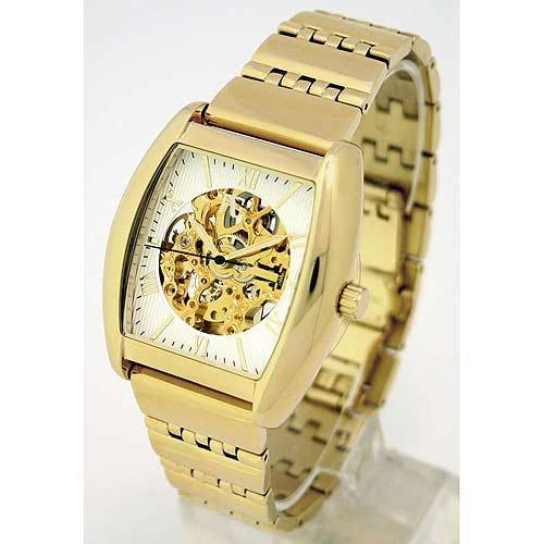 Auguste Galan MECCANIX BTTB Mens Gold-tone Mechanical Skeleton Watch. Model AG-0764