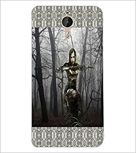 PrintDhaba Armed Girl D-4596 Back Case Cover for LETV LE 1 PRO ULTRA (Multi-Coloured)