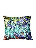 ARTE E TESSUTI by MANIFATTURE COTONIERE Cojín Con Relleno Extraíble Van Gogh - Iris Azul/Multicolor