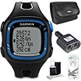Garmin Forerunner 15 Heart Rate Monitor Bundle Large - Black Blue Bundle