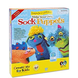Click to buy Easy to Make Puppets: Make Your Own Sock Puppets from Amazon!