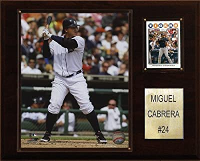 MLB Miguel Cabrera Detroit Tigers Player Plaque