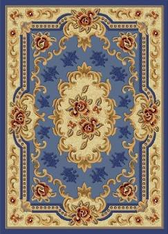 E507 Classic French Aubusson Traditiona l Medallion Light Blue 8x10 8ft 10ft Rug Carpet Mat Actual Size 7'9