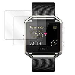 Fitbit Blaze Screen Protector, BoxWave [ClearTouch Crystal (2-Pack)] HD Film Skin - Shields From Scratches for Fitbit Blaze