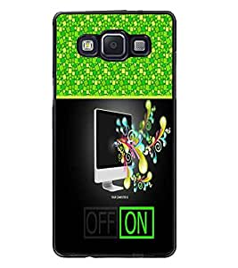 PrintDhaba Abstract Image D-4258 Back Case Cover for SAMSUNG GALAXY E5 (Multi-Coloured)