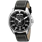 Hamilton Men's 'Khaki Aviation' Swiss Automatic Stainless Steel and Black Leather Casual Watch (M...