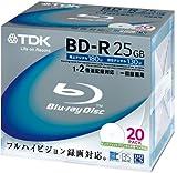 TDK 録画用ブルーレイディスク BD-R 2倍速記録対応 ハードコート仕様 20枚パック BRV25PWA20K