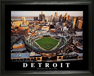 Detroit Tigers - Comerica Park Aerial - Lg - Framed Poster Print by Laminated Visuals