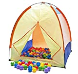"""Clearance Sale: Pretend Outdoors Camping Play Tent w/ 100 """"Phthalate Free"""" Pit Balls & Carry Totes Picture"""