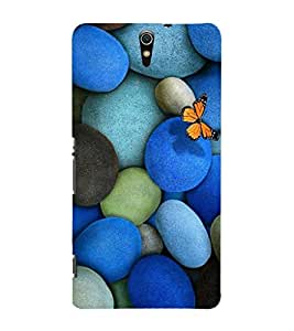 EPICCASE marble and butterfly Mobile Back Case Cover For Sony Xperia C5 (Designer Case)