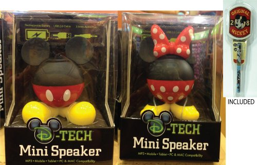 Disney Parks Mickey & Minnie Body Parts Mini Speakers - Disney Parks Exclusive & Limited Availability + Mickey Notepad And Pen Included