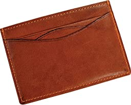Tony Perotti Prima Weekend Wallet with I.D. Window-Cognac