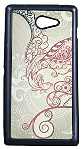 Zeztee ZT6970 Multicolor print Mobile Back Cover For Sony Experia M2Dual