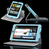 MoKo 360 Degree Rotating Case with Stand for Google Nexus 7 inch tablet by ASUS, Blue ~ MoKo