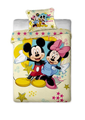 parure de lit housse de couette mickey et minnie disney suniaraha blogs. Black Bedroom Furniture Sets. Home Design Ideas