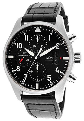 reloj-de-piloto-para-hombre-cronografo-esfera-negra-correa-de-piel-de-caiman-autentica-color-negro