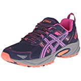 ASICS Women's Gel-Venture 5 Running Shoe, Indigo Blue/Pink Glow/Living Coral, 10 M US
