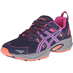 ASICS Women's Gel-Venture 5 Running Shoe, Indigo Blue/Pink Glow/Living Coral, 9 M US