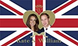 Prince William and Kate Middleton Royal Wedding Commemorative Flag 5ft x 3ft