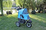 New BestPet Sporty Blue Pet Jogger Jogging Dog Cat Stroller Carrier