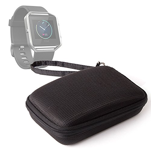 DURAGADGET-Black-Water-Resistant-Hard-Shell-Case-with-Ultra-Soft-Lining-Compatible-with-the-NEW-Fitbit-Blaze-Smartwatch