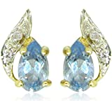 Ornami Glamour 9ct Yellow Gold accent Stud Earrings