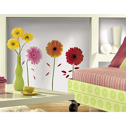 ROOMMATES RMK1553SCS Small Gerber Daisies Peel & Stick Wall Decals
