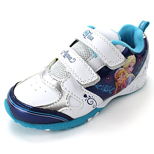 Frozen-Elsa-Anna-Girls-White-Lighted-Sneakers-Shoes