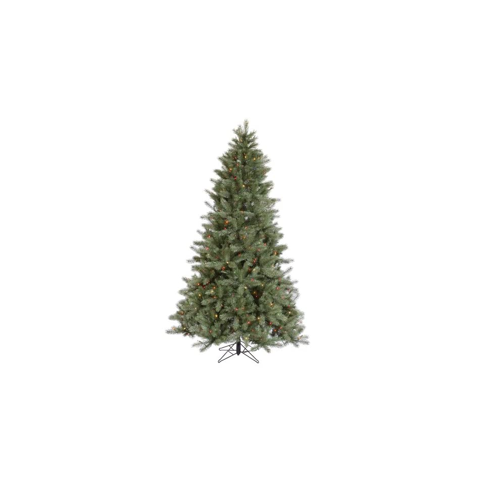 12 Blue Albany Spruce Christmas Tree w/ 4101T 1950 Dura Lit Multi color Lights 84