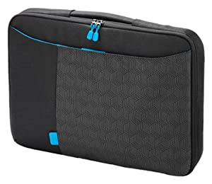 Dicota D30258 SlimCase Bounce 15-16.4 Inch Notebook SlimCase with Cushioned Notebook Compartment and Separate Front Pocket for Documents - Black/Blue