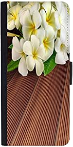 Snoogg Butterfly On Flowers Graphic Snap On Hard Back Leather + Pc Flip Cover...