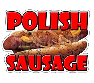 POLISH SAUSAGE Concession Decal stand trailer food sign