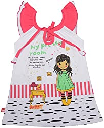 Absorba Baby Girls' Dress ( Pink_3-4 Years ,60008)