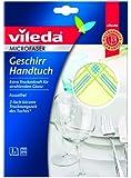Vileda 11122 Microfaser Geschirrhandtuch - trocknen & polieren mit nur einem Tuch - 1er Pack