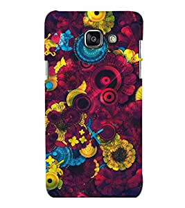 printtech Awesome Design Floral Pattern Back Case Cover for Samsung Galaxy A7 2016 Edition