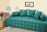 Swayam Diwan-e-Khaas Cotton 6 Piece Diwan Set - Turquoise (DWN16-6302)