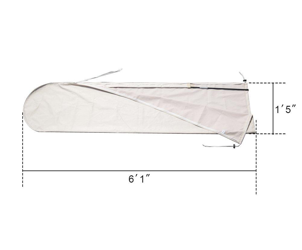 C-Hopetree Patio Outdoor Patio Market Umbrella Storage Cover suits 7 to 11 Umbrella, Water resistant Beige