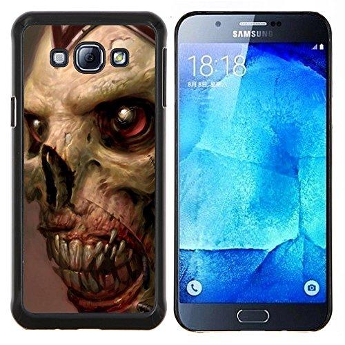 Gore Zombie Skull - Aluminum Metal & plastica dura Phone caso - nero - Samsung Galaxy A8 / SM-A800